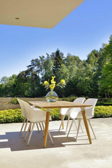 "Hartman ""Sophie Studio"" Organic Chair, Gestell Aluminium royal white, Sitzschale royal white"