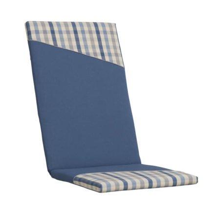 Kettler Polsterauflage, Dessin 901, jeansblau mit Karomuster, KTH15