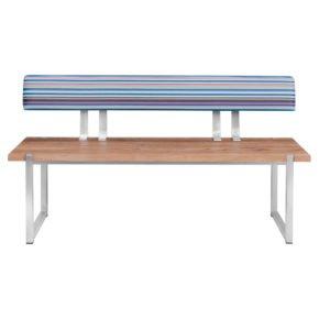 """Zebra Rückenlehne """"Quadux"""", Twitchell® blue stripe, für Gartenbank """"Quadux"""""""