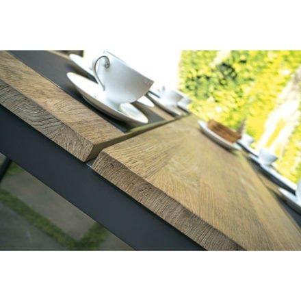 Zebra Serie Alex, Gartentisch mit Tischplatte aus Teakholz
