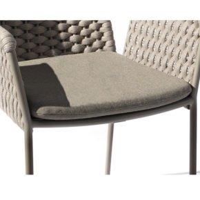 Fischer Möbel, Sitzkissen für Sessel Teso, Farbe: stone