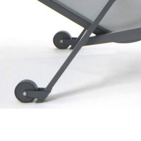 Fischer Möbel Räderset für Relaxliege Atlantic, Aluminium anthrazit