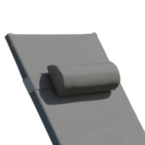 """Fischer Möbel Sonnenliege """"Atlantic"""", Gestell Aluminium silber-schwarz, Textilgewebe silber-schwarz"""