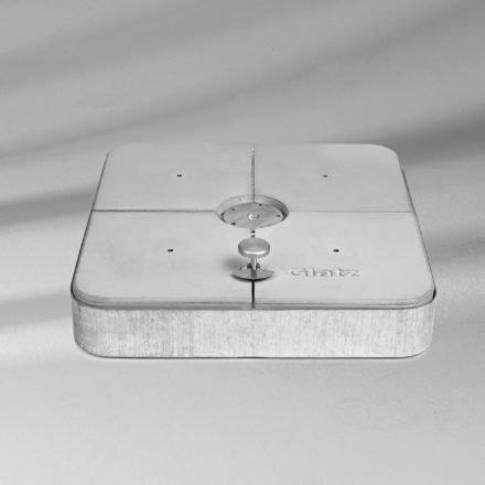 Rollensockelrahmen 150 kg, eckig, 80x80x14 cm, inkl. Gewichte-Set von GLATZ (© by GLATZ AG, Schweiz)