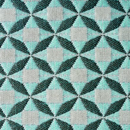 Solpuri Polsterstoff Mosaic Diamond taupe-blue - 798