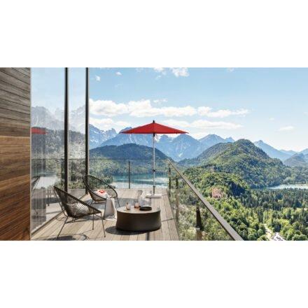 """Sonnenschirm """"Alu-Smart"""", Aluminium natureloxiert, von GLATZ (© by GLATZ AG, Schweiz)"""