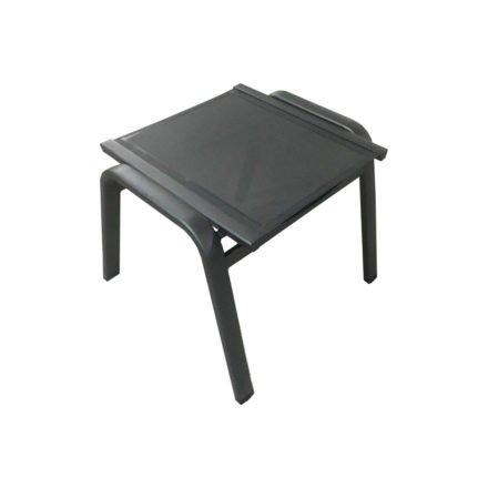 "Zebra ""Fly"" Hocker, Aluminiumrahmen graphite mit Textilbezug carbon grey"