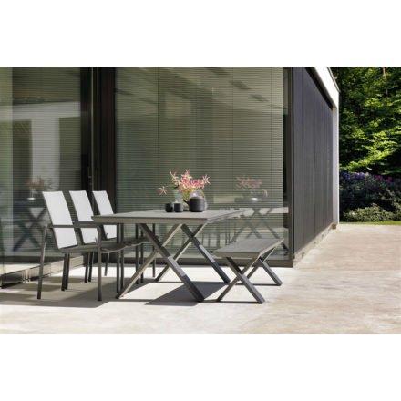 """Hartman """"Xanadu"""" Gartenmöbel-Set mit Gartentisch und Gartenbank sowie """"Annecy"""" Gartenstuhl"""