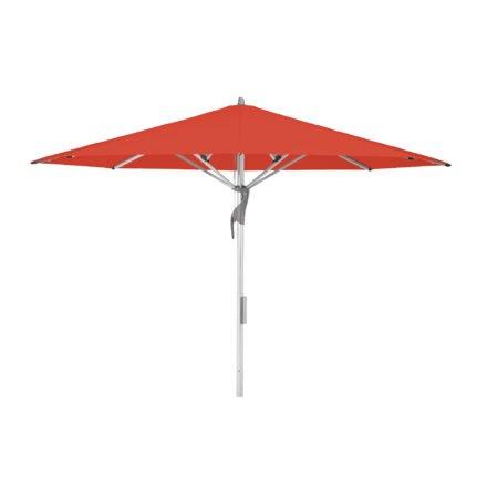 """Sonnenschirm """"Fortello® LED"""", rund, von GLATZ, Dessin 516 - Fire Red (© by GLATZ AG, Schweiz)"""