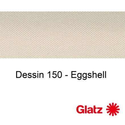 GLATZ Stoffmuster Dessin 150 Eggshell