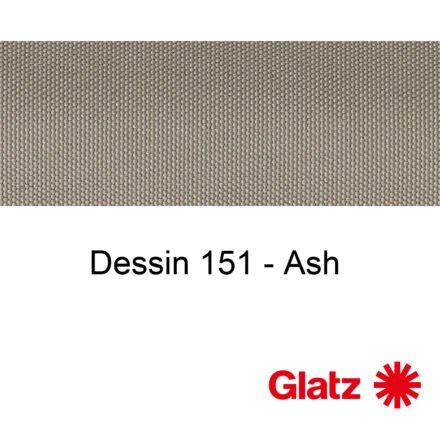 GLATZ Stoffmuster Dessin 151 Ash