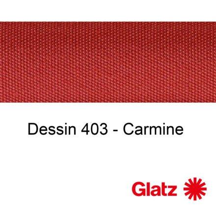 GLATZ Stoffmuster Dessin 403 Carmine