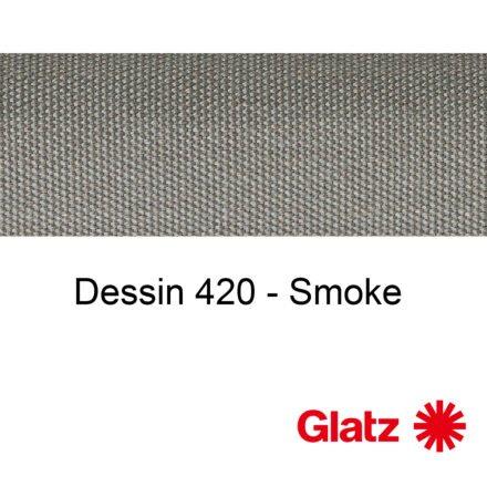 GLATZ Stoffmuster Dessin 420 Smoke