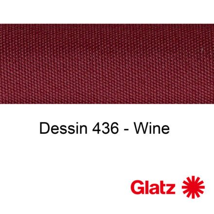GLATZ Stoffmuster Dessin 436 Wine