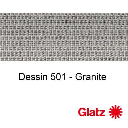 GLATZ Stoffmuster Dessin 501 Granite