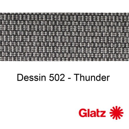 GLATZ Stoffmuster Dessin 502 Thunder