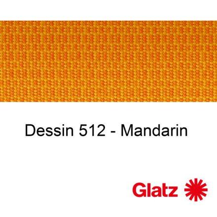 GLATZ Stoffmuster Dessin 512 Mandarin