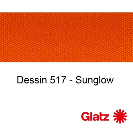 GLATZ Stoffmuster Dessin 517 Sunglow