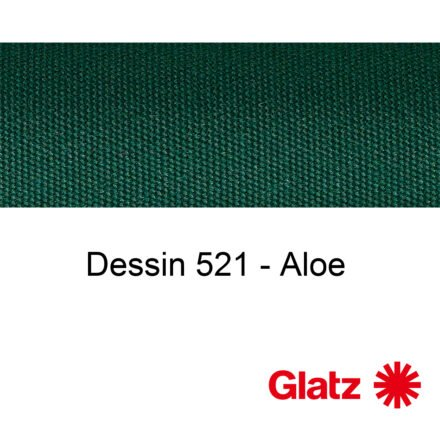 GLATZ Stoffmuster Dessin 521 Aloe