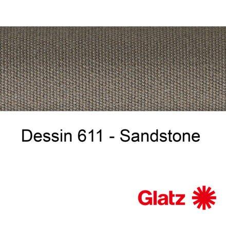 GLATZ Stoffmuster Dessin 611 Sandstone