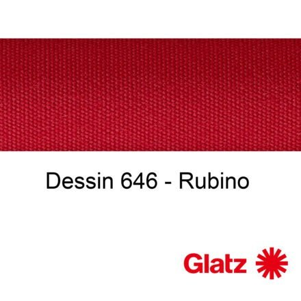 GLATZ Stoffmuster Dessin 646 Rubino