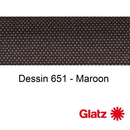 GLATZ Stoffmuster Dessin 651 Maroon