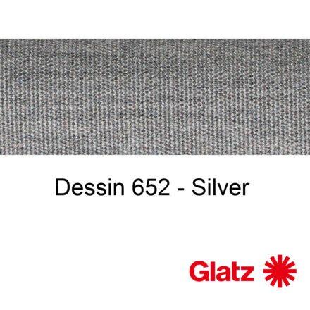 GLATZ Stoffmuster Dessin 652 Silver