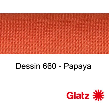 GLATZ Stoffmuster Dessin 660 Papaya