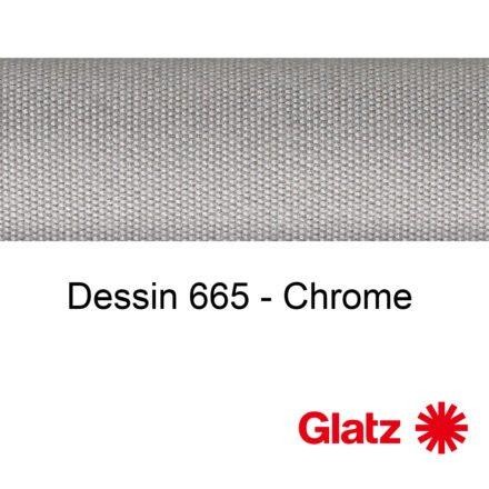 GLATZ Stoffmuster Dessin 665 Chrome