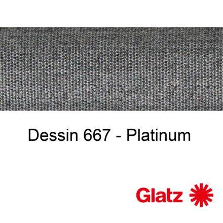 GLATZ Stoffmuster Dessin 667 Platinum