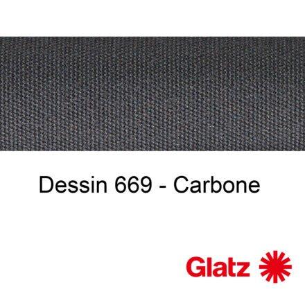GLATZ Stoffmuster Dessin 669 Carbone