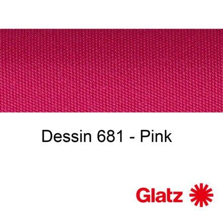 GLATZ Stoffmuster Dessin 681 Pink