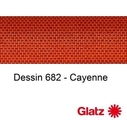 GLATZ Stoffmuster Dessin 682 Cayenne
