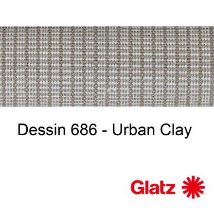 GLATZ Stoffmuster Dessin 686 Urban Clay