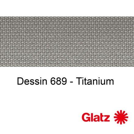 GLATZ Stoffmuster Dessin 689 Titanium