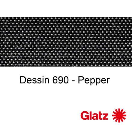 GLATZ Stoffmuster Dessin 690 Pepper