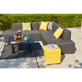 """Hartman """"Diego"""" Loungeset, Aluminium mit Textilbespannung Sunbrella®, mit Tisch """"Tim"""" und Hocker """"Alex"""""""