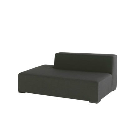 """Hartman """"Diego"""" Sofa mit Rückenlehne, Aluminium mit Textilbespannung Sunbrella schwarz"""