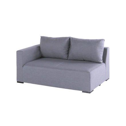 """Hartman """"Oliver"""" 2-Sitzer mit Armlehne rechts, Aluminium mit Textilbespannung Sunbrella grau"""