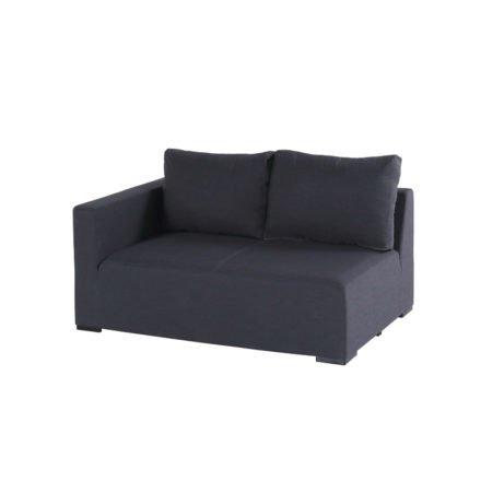 """Hartman """"Oliver"""" 2-Sitzer mit Armlehne rechts, Aluminium mit Textilbespannung Sunbrella schwarz"""