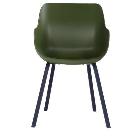 """Hartman """"Sophie Element"""" Organic Chair, Gestell Aluminium carbon black, Sitzschale moss green"""