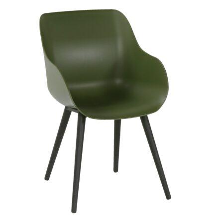 """Hartman """"Sophie Studio"""" Organic Chair, Gestell Aluminium carbon black, Sitzschale moss green"""