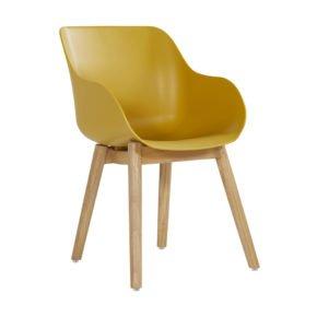 "Hartman ""Sophie Teak"" Organic Chair, Gestell Teakholz, Sitzschale curry yellow"