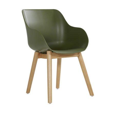 """Hartman """"Sophie Teak"""" Organic Chair, Gestell Teakholz, Sitzschale moss green"""
