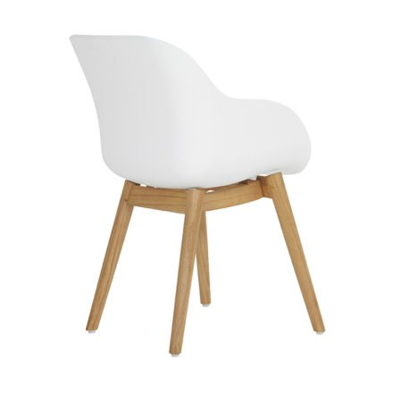 "Hartman ""Sophie Teak"" Organic Chair, Gestell Teakholz, Sitzschale white"