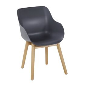 "Hartman ""Sophie Teak"" Organic Chair, Gestell Teakholz, Sitzschale xerix"