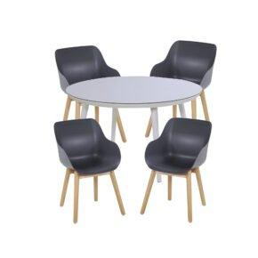 """Hartman Gartenmöbel-Set mit Stuhl """"Sophie Studio Organic"""", Gestell Teak, Sitzschale Farbe Xerix und Tisch Studio Alu weiß"""