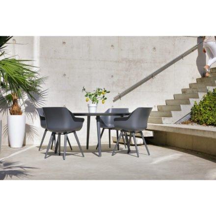Hartman Sophie Studio Table, rund, Gestell Aluminium xerix, Tischplatte HPL anthrazit
