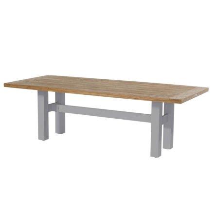 """Hartman """"Sophie Yasmani"""" Gartentisch, Gestell Aluminium misty grey, Tischplatte Teakholz vintage brown, Maße 240x100 cm"""