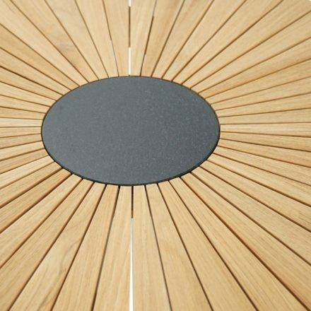 """Ploß Dining-Tisch """"Chester"""" mit Graniteinlage, Tischgestell und Tischplatte Teakholz natur"""